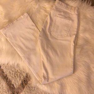 "Gap white low rise boot cut jean waist 14"" flat"